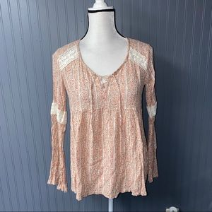 Women's hollister peasant top blouse size xs